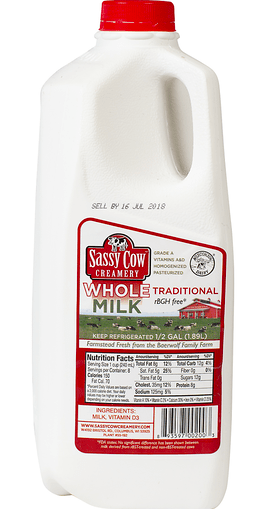 Whole Milk (1/2 gallon)