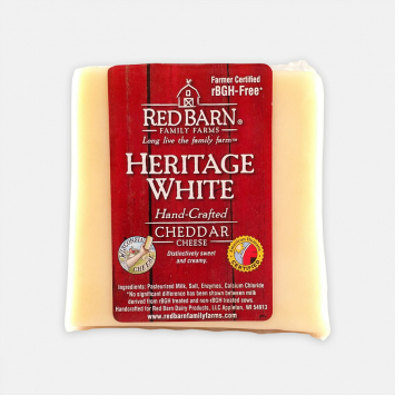 Aged 1 year Heritage White Cheddar (1 lb)