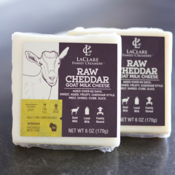 Raw Cheddar Goat Cheese