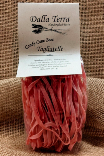 Candy Cane Beet Pasta