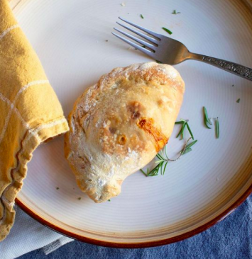 Chicken Pot Pie Calzone