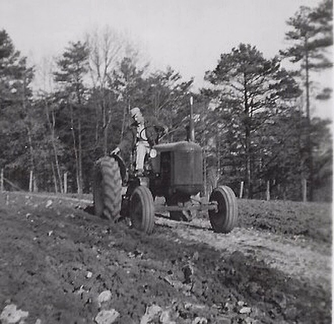 Fred Boles on an early 40's Case tractor