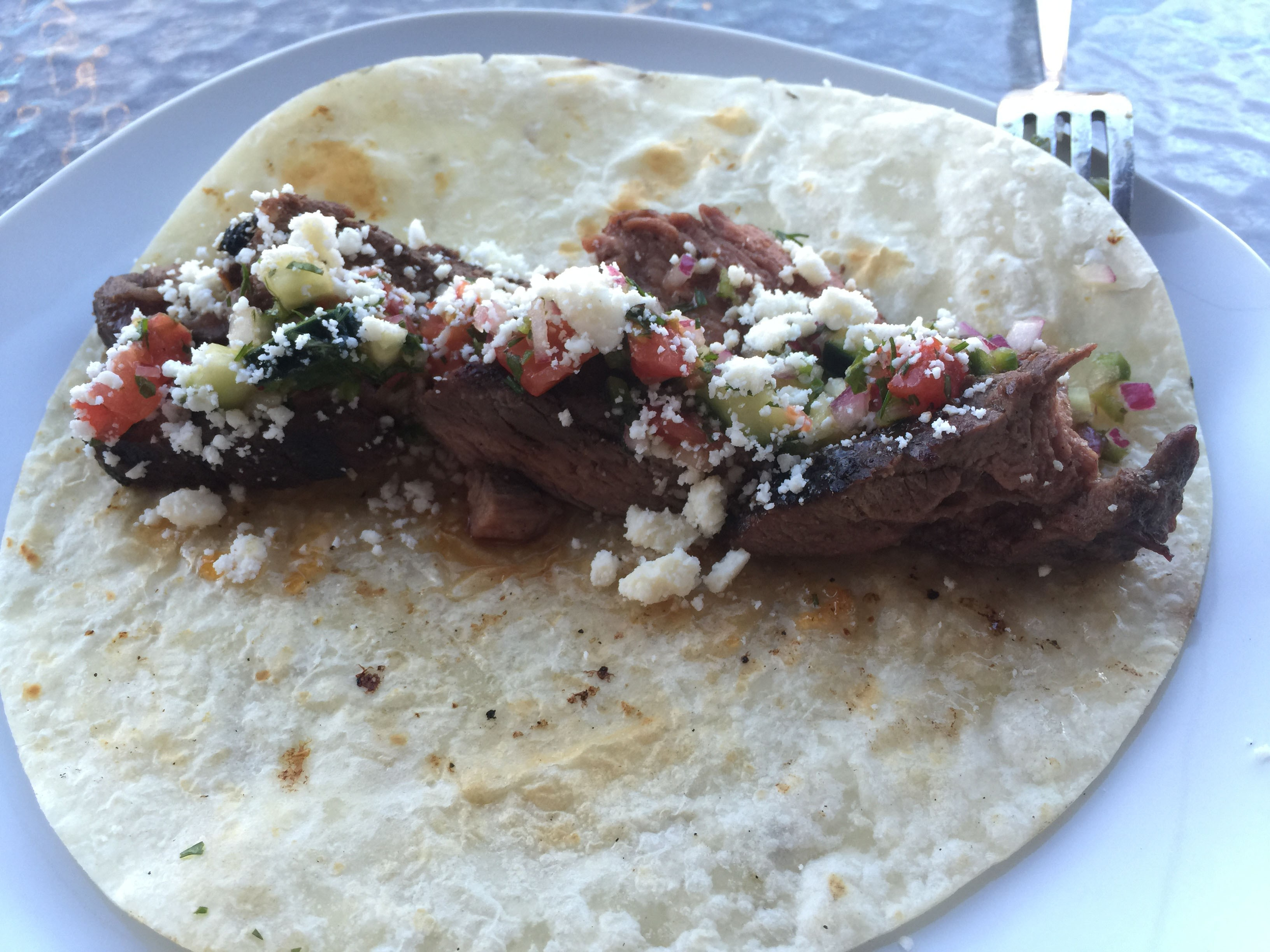Apricot Smoked Chili Glazed Lamb Tacos, with a Tomato Cucumber Salsa - 45 Minutes