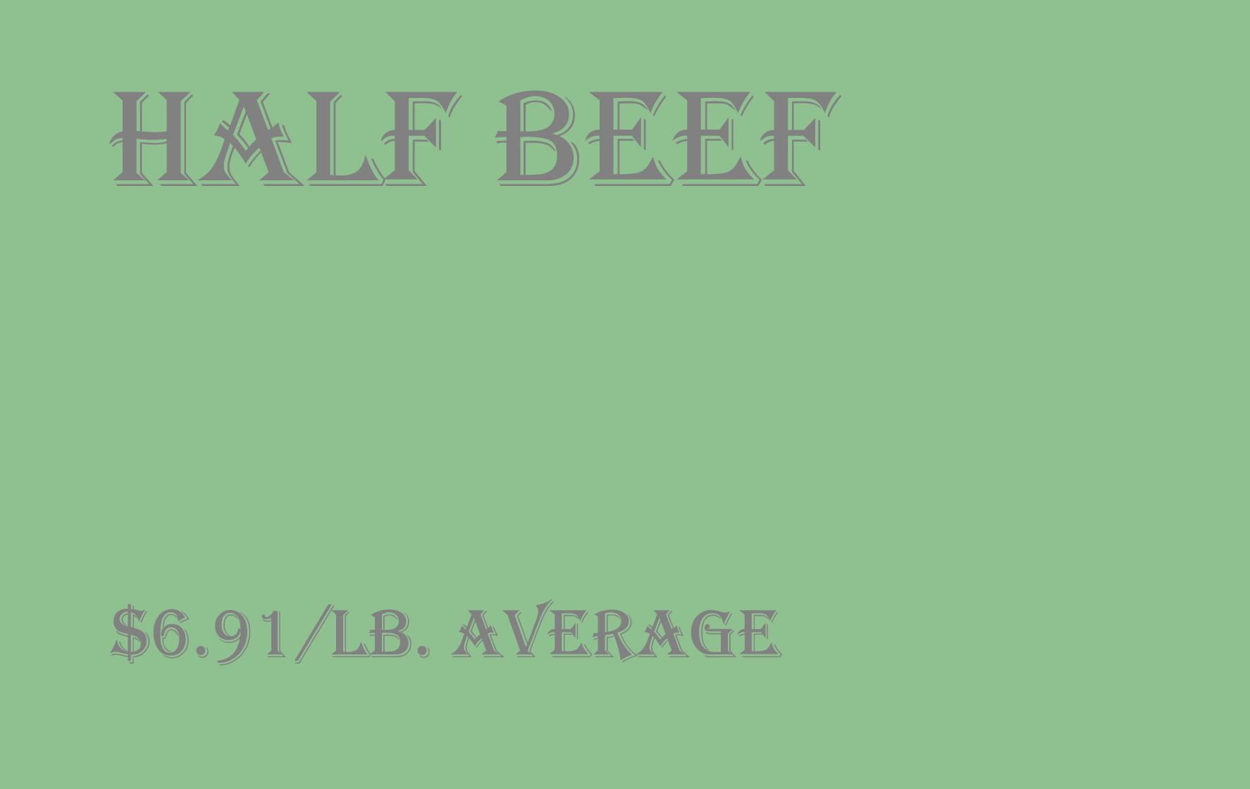 Bulk - Half Beef