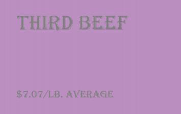 Bulk - Third Beef