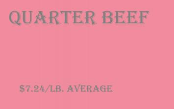 Bulk - Quarter Beef