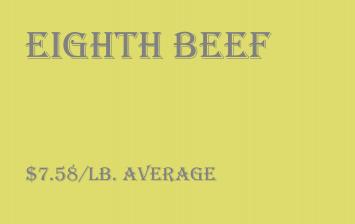Bulk - Eighth Beef