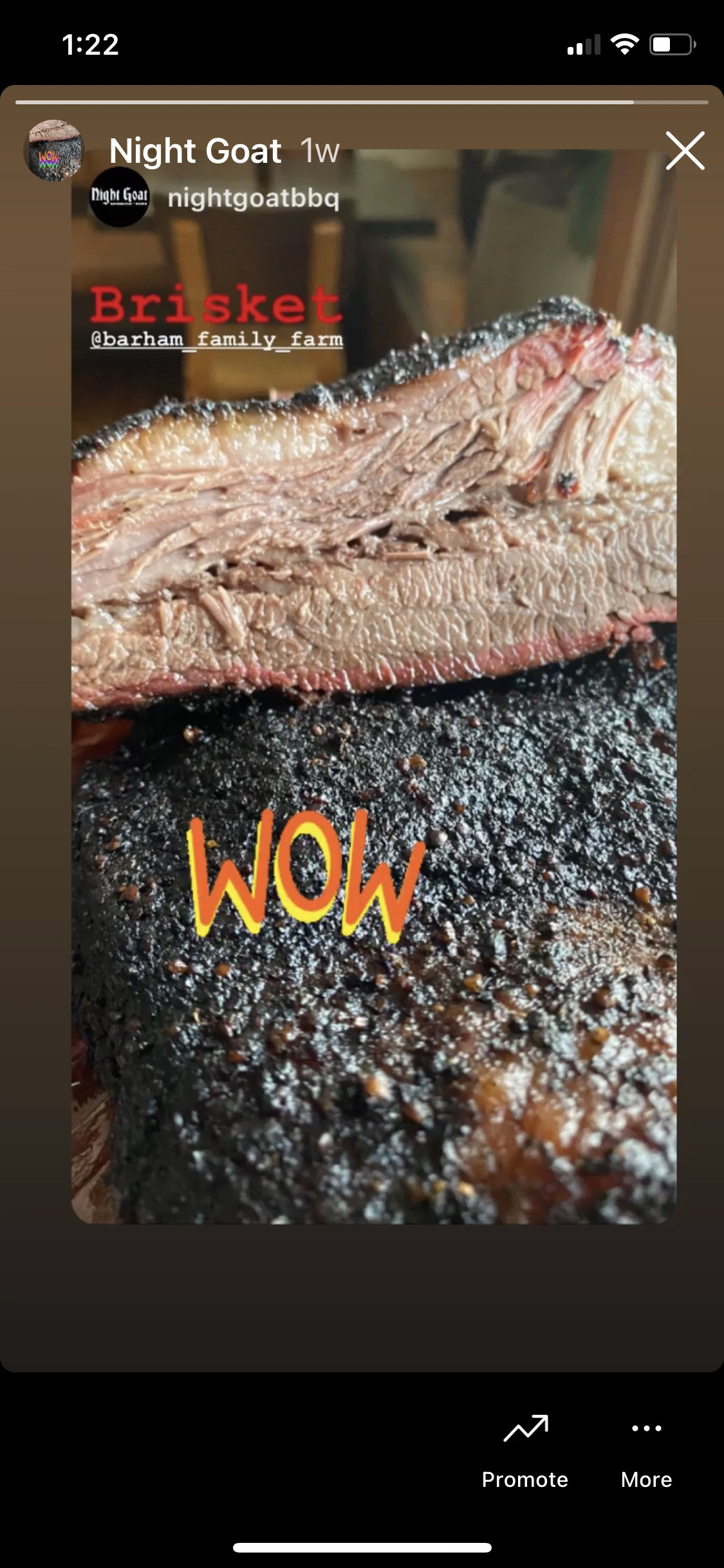 Fox and Pearl Angus beef brisket