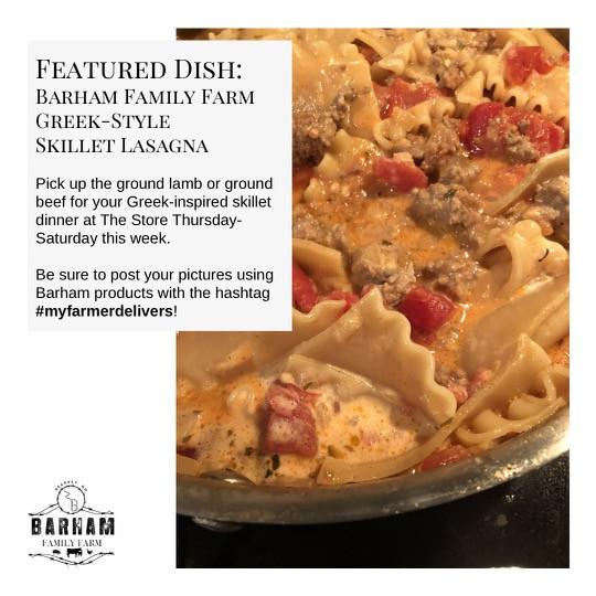 Barham Family Farm Greek-Style Skillet Lasagna