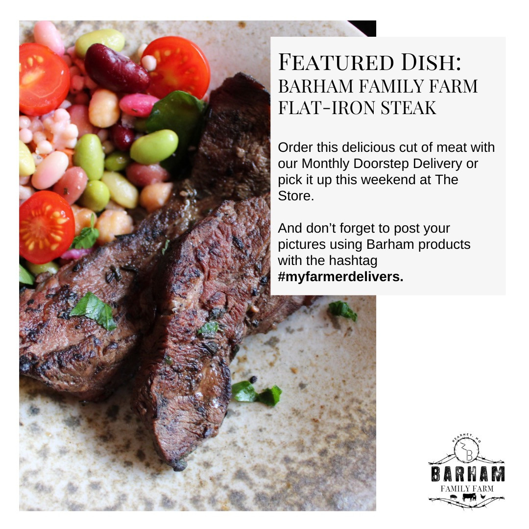 Barham Family Farm Marinated Flat-Iron Steak