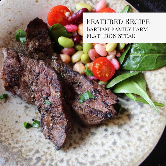 Barham Family Farm Marinated Flat-Iron Steak