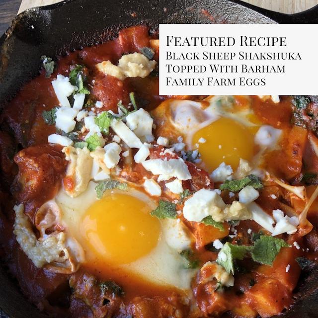 Black Sheep Shakshuka Topped With Barham Family Farm Free-Range Eggs