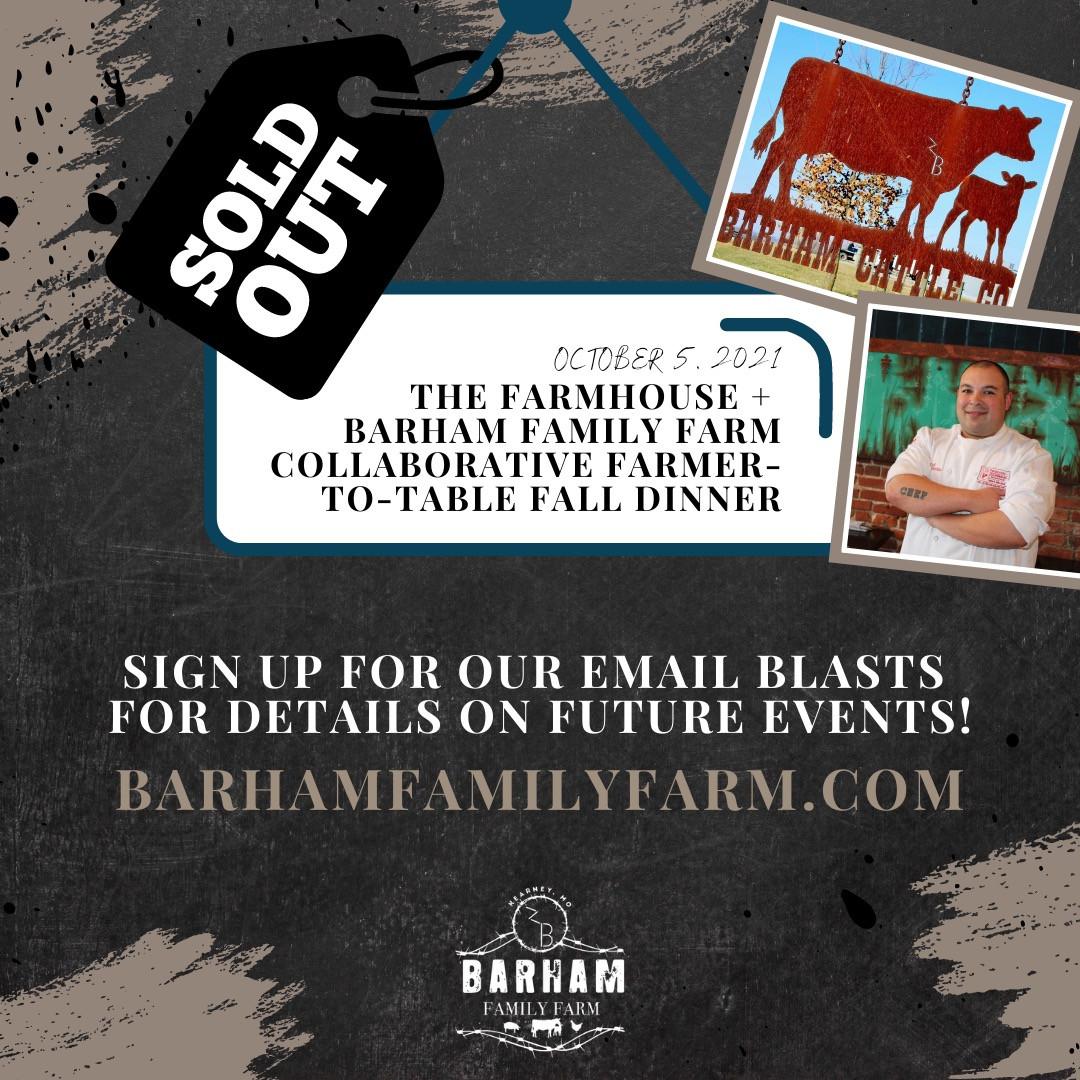 Barham Family Farm Dinner with The Farmhouse