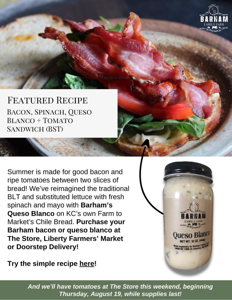 Barham Basics: Bacon + Queso Blanco Sandwich