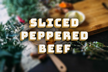 Sliced Peppered Beef