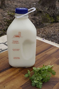 2% Milk Glass Bottle