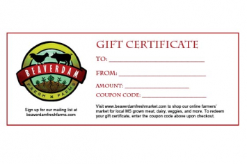 Gift Certificate Custom Amount