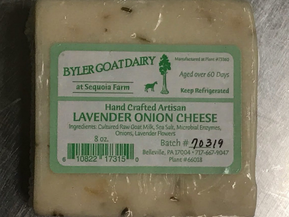 8 Ounces - Lavender Onion Goat Cheese