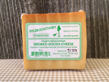 8 Ounces - Smoked Gouda Goat Cheese