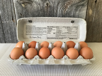 Pastured Soy-Free Chicken Eggs, 1 dozen