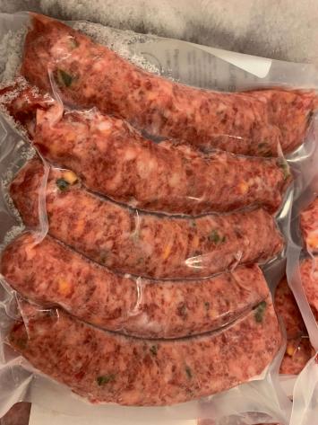 Jalapeño & cheddar bratwurst