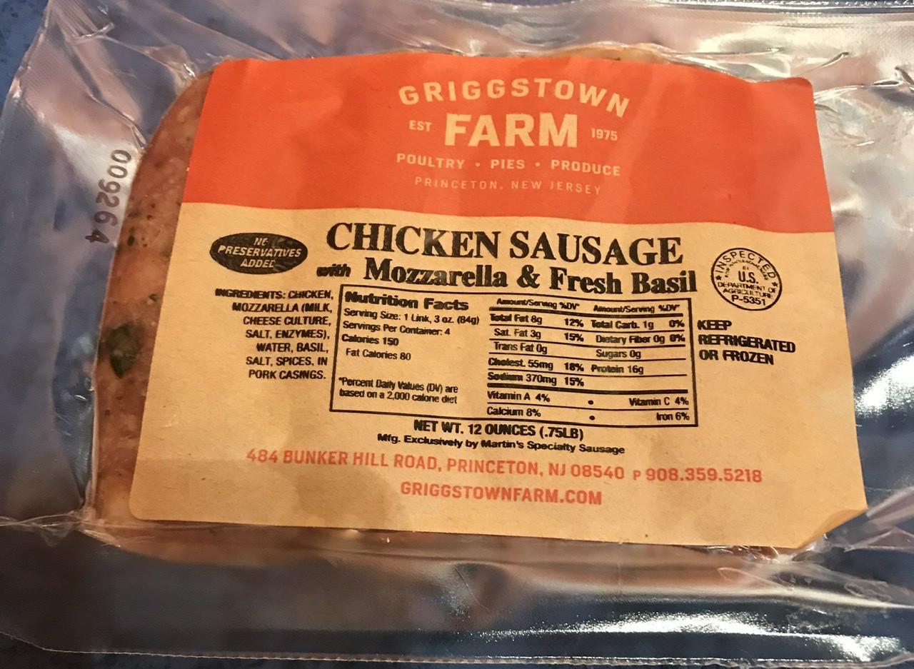 Mozzarella & Basil Chicken Sausage