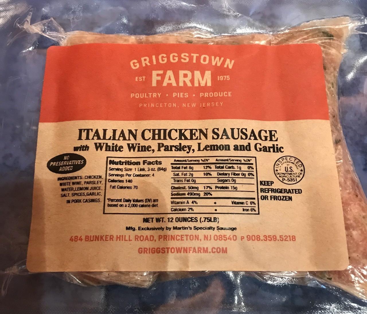 White wine, Parsley, & Garlic Chicken Sausage