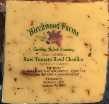 Raw Tomato Basil Cheddar Cheese