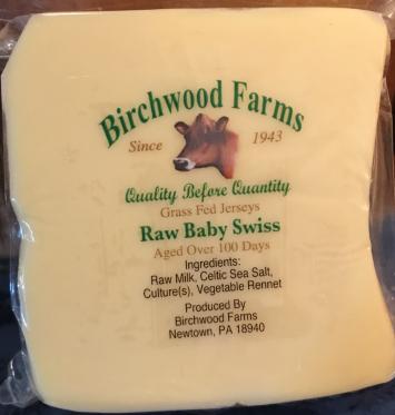 Raw Baby Swiss Cheese