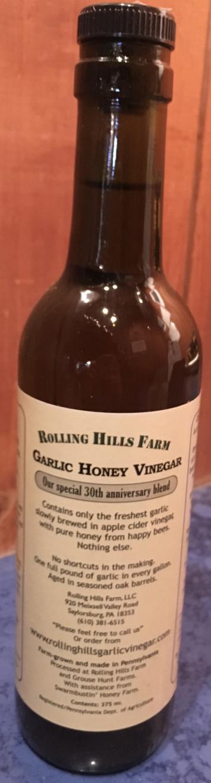 Rolling Hills Farm Garlic Honey Vinegar