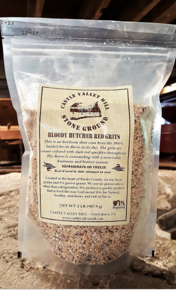 "Non-GMO Stone Ground ""Bloody Butcher"" Red Grits"