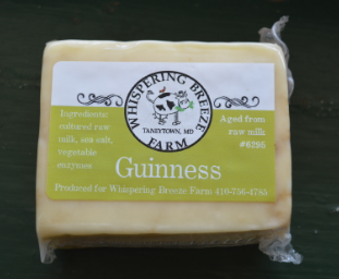 Guinness Raw Milk Cheddar Cheese