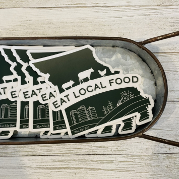 "Eat Local Food Sticker 5"""