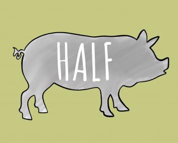 Deposit: HALF PIG (local pick-up only)