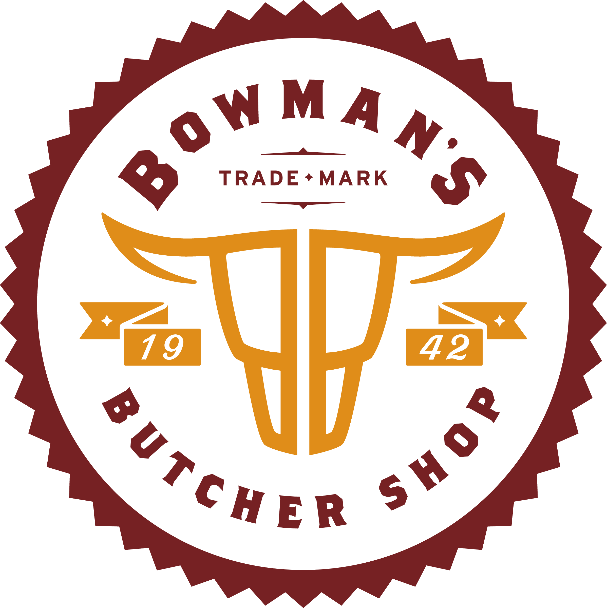 Bowman's Butcher Shop Logo