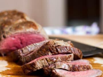 Beef Rib Roast, Cradled