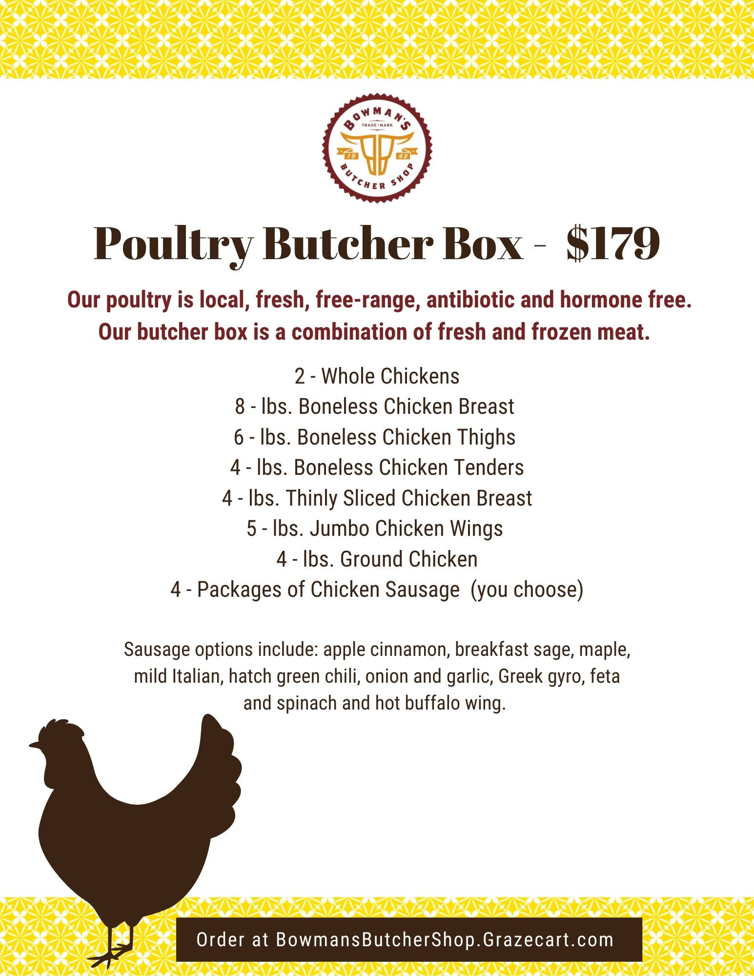 Fill Your Freezer - Poultry Butcher Box