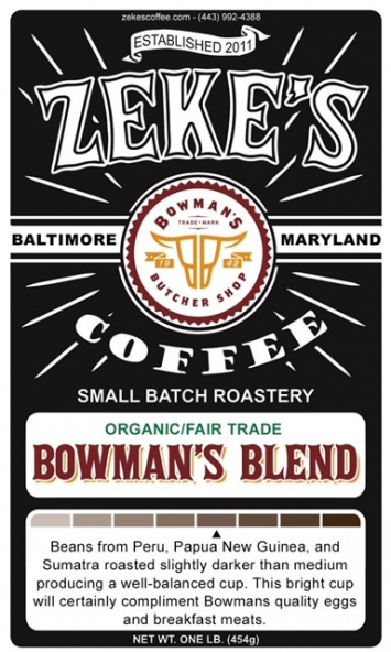 "Zeke's Coffee ""Bowman's Blend"" - Ground"