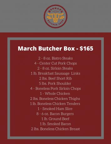March Butcher Box - $165