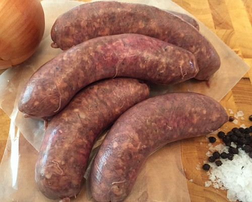 Beef and Onion Sausage