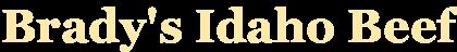 Brady's Beef Logo