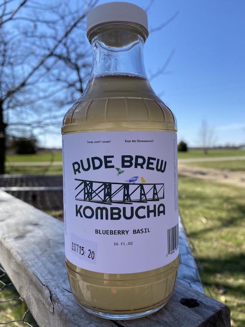 Kombucha- Blueberry Basil