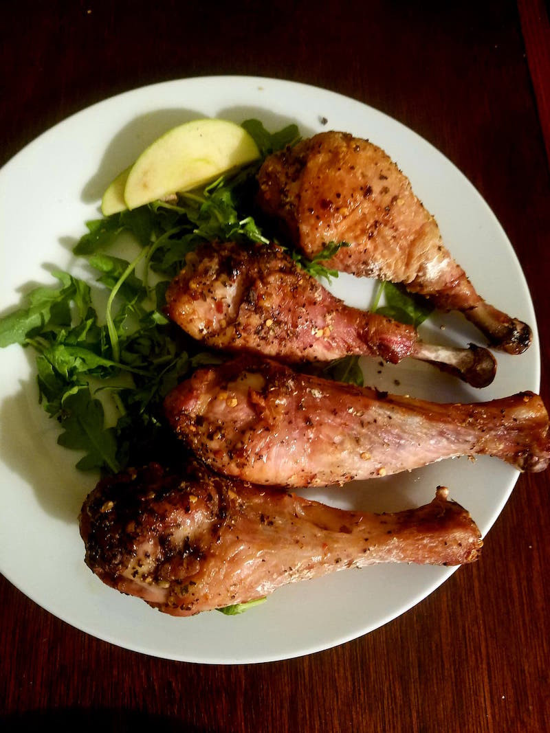 Slow Baked Crispy Chicken Legs