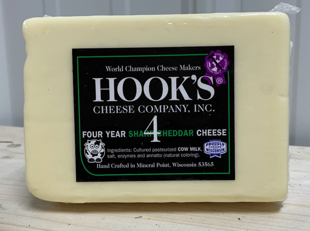 Hook's 4 Year Sharp Cheddar (White)