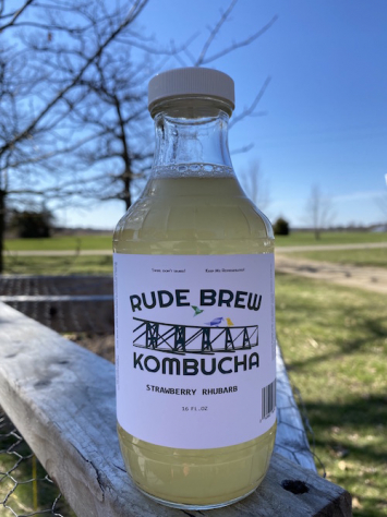 Kombucha- Strawberry Rhubarb
