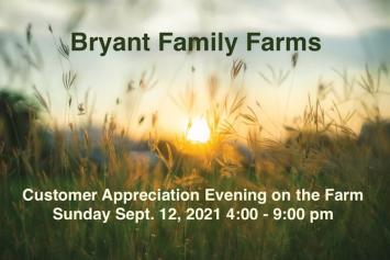 Customer Appreciation Evening on the Farm