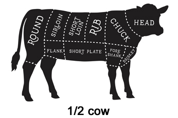 Beef - 1/2 cow