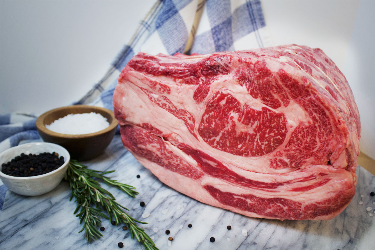 Callicrate Wagyu Prime Rib Roast, Bone-In Tied
