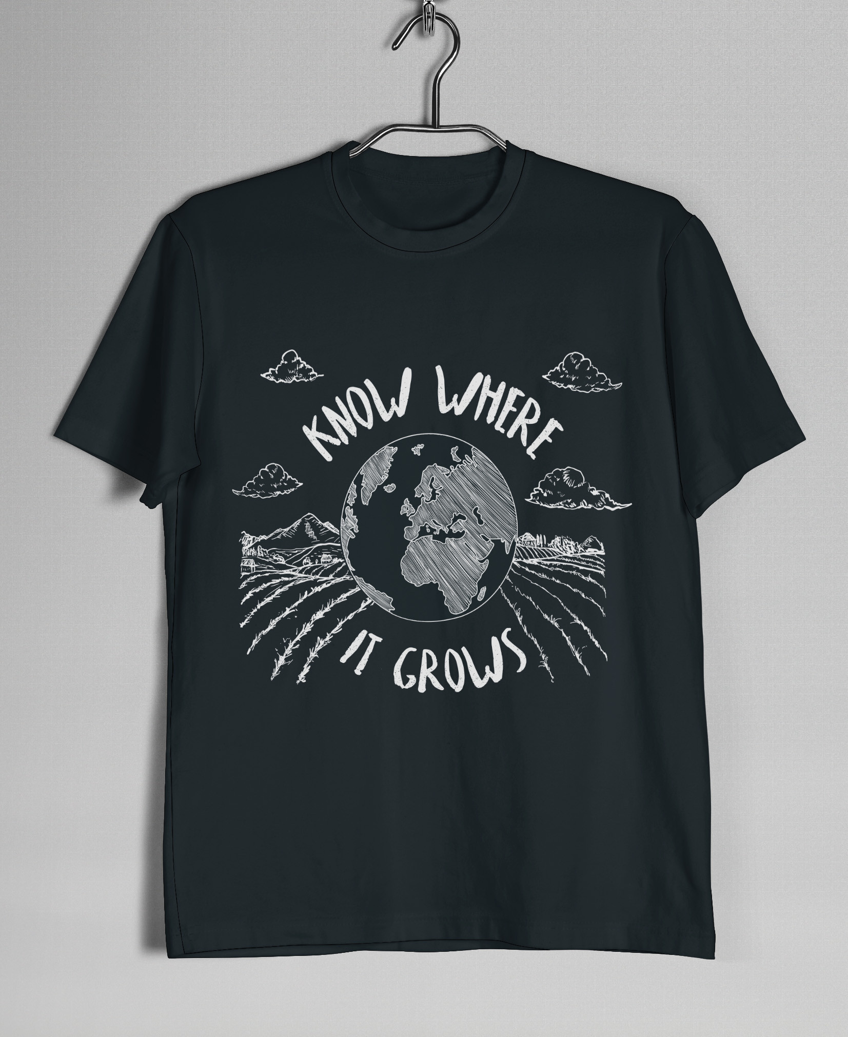 SMALL Know Where It Grows T-Shirt (Black)