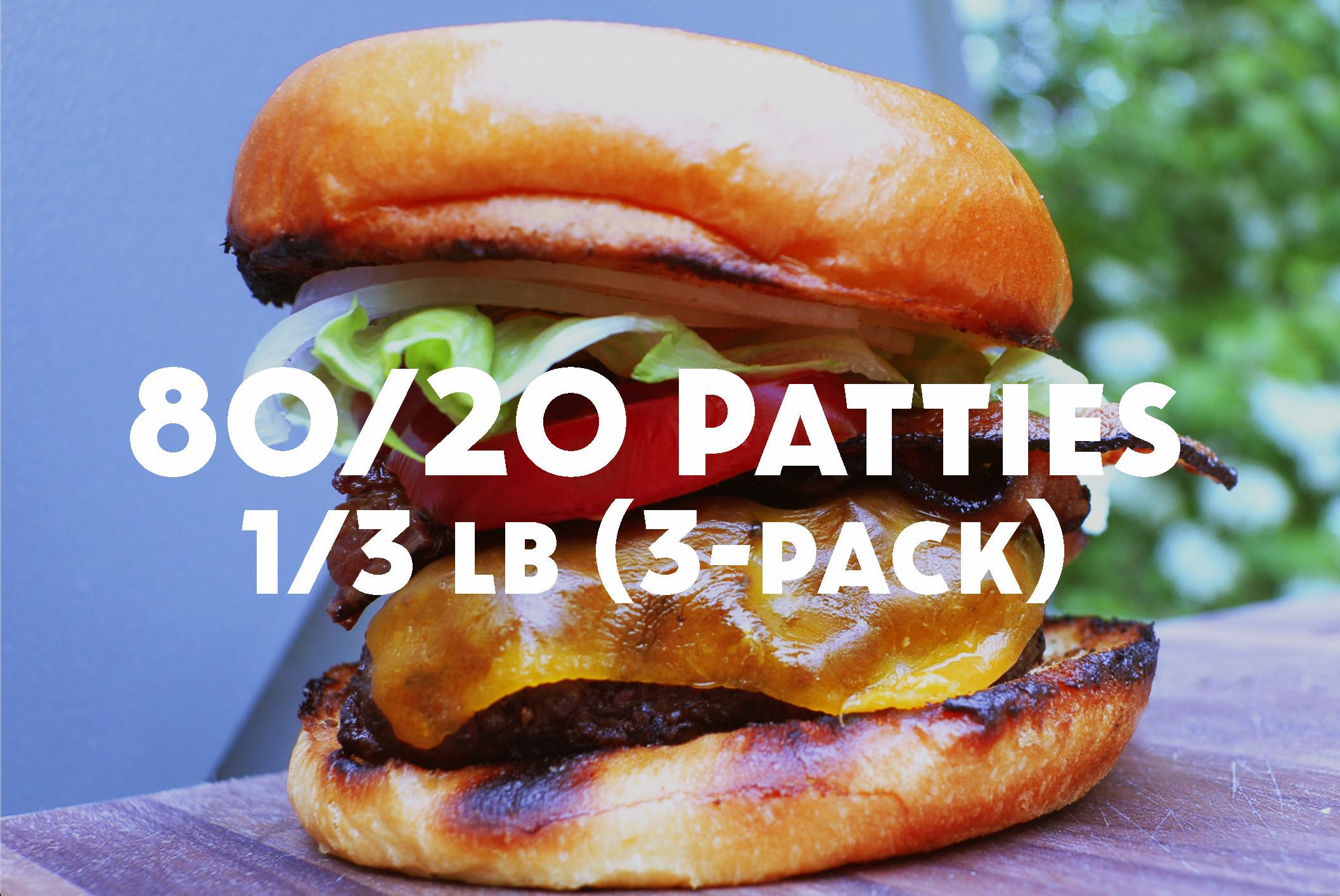 Ground Beef Burger Patties - 3-Pack